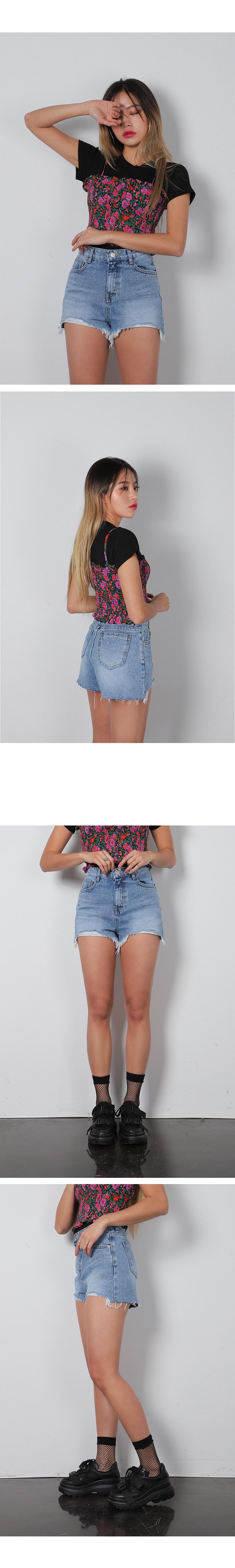 로버 데님 숏 팬츠 (2color) - 써리미, 25,000원, 하의, 숏팬츠
