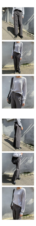 하핀 롤업 와이드팬츠 (3color) - 써리미, 43,000원, 하의, 슬랙스