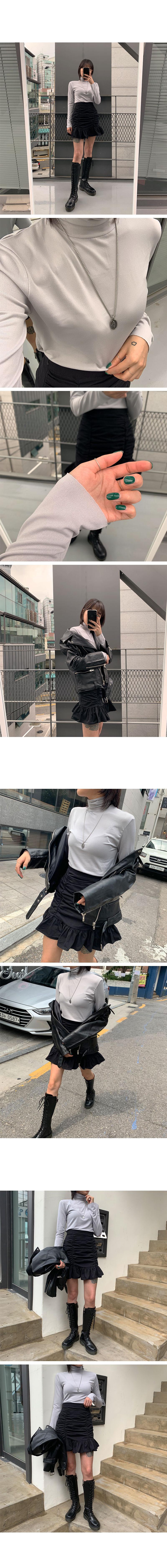 컷트 목폴라 티셔츠 (3color) - 써리미, 14,000원, 상의, 긴팔티셔츠